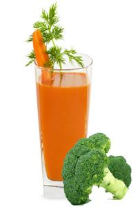 sok od sargarepe i brokolia